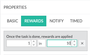 Activity Reward Chance